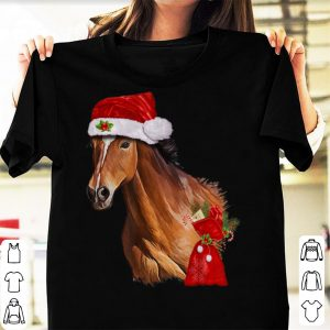 Official Horse Christmas Santa Hat Christmas Gift shirt