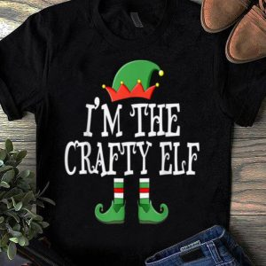 Official I'm The Crafty Elf Group Matching Family Christmas Gift shirt