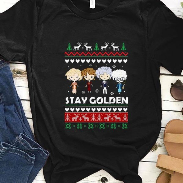 Official Ugly Christmas Stay Golden Girl shirt