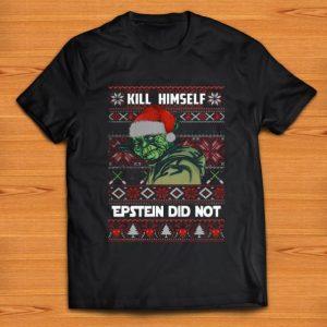 Official kill himself Epstein didnt ugly christmas Yoda shirt