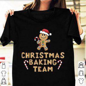 Original Christmas Baking Team Gingerbread Man Candy Cane shirt