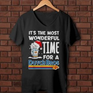 Original It's The Most Wonderful Time For A Dutch Bros Coffee Christmas shirt