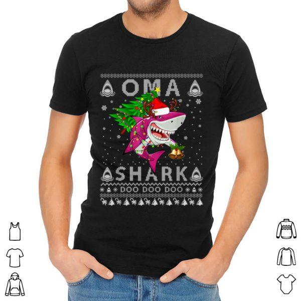 Original Oma Shark Santa Christmas Family Matching Pajamas shirt