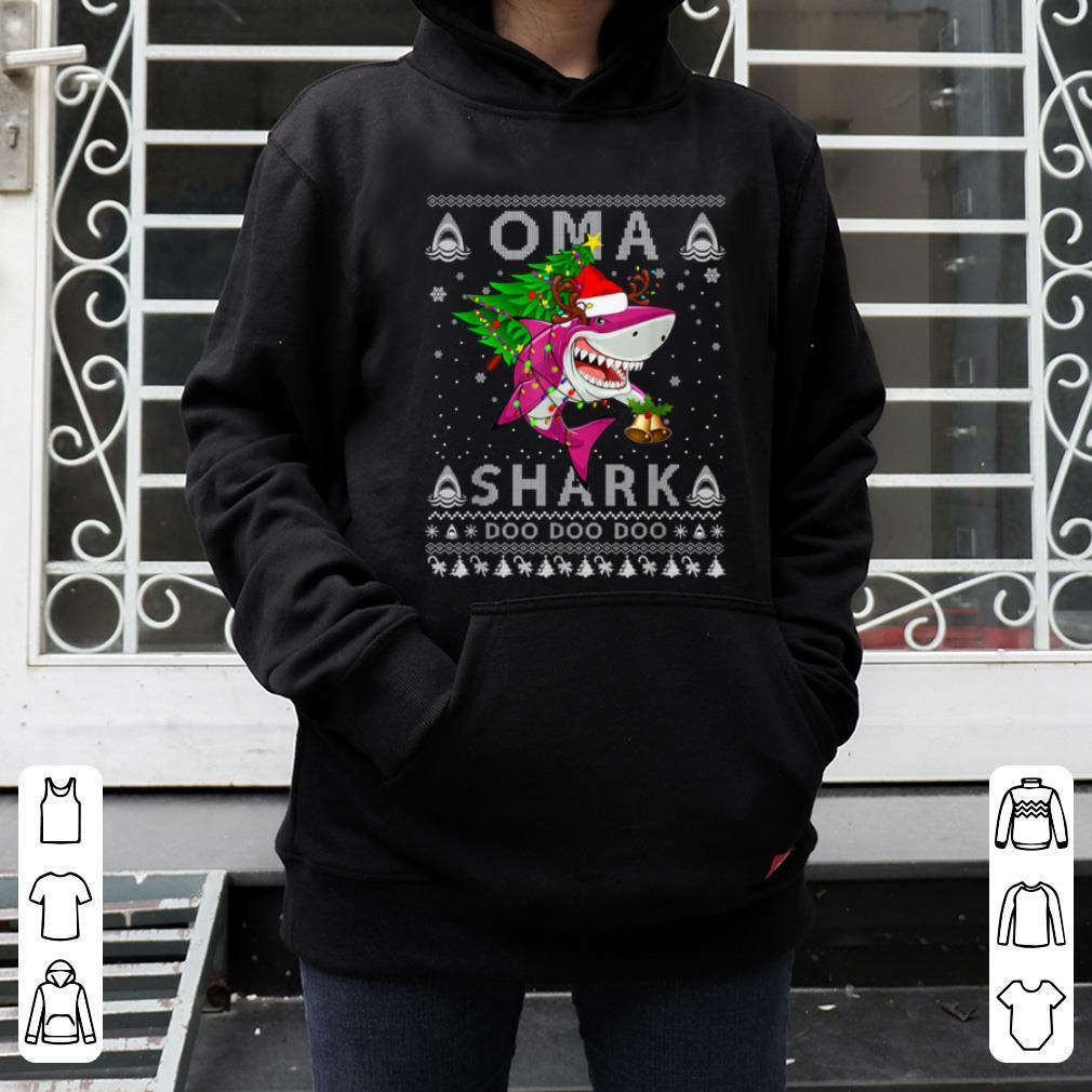 Original Oma Shark Santa Christmas Family Matching Pajamas shirt 4 - Original Oma Shark Santa Christmas Family Matching Pajamas shirt