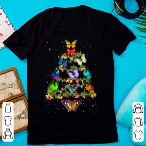 Premium Butterflies Christmas Tree Xmas Light Decoration shirt