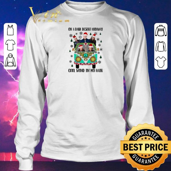 Premium Eagles on a dark desert highway cool wind in my hair Christmas shirt sweater