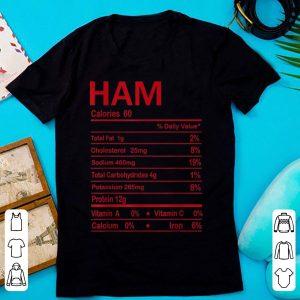 Premium Funny Ham Thanksgiving Christmas Food Nutrition Facts Gift shirt