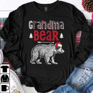 Premium Grandma Bear Christmas Santa Family Matching Pajamas shirt