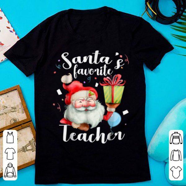 Premium Santa's Favorite Teacher Christmas Teacher Gifts shirt