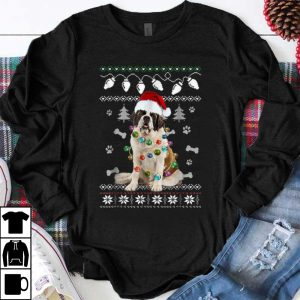 Premium St. Bernard Christmas Dog Light Ugly Sweater shirt