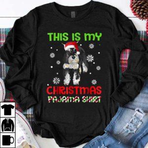 Premium This Is My Christmas Pajama ,Miniature Schnauzer Santa shirt
