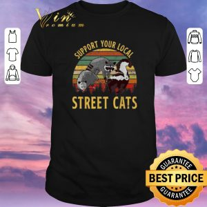 Premium Vintage Raccoon Support your local street cats shirt