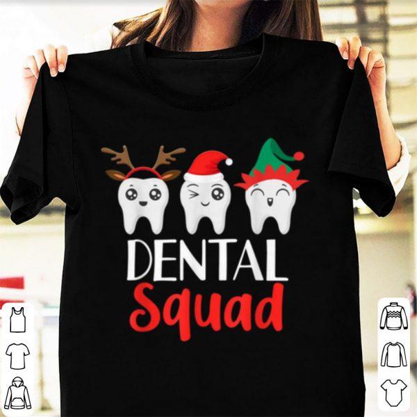 Pretty Christmas Dental Squad Hygienist Dentist Outfit shirt