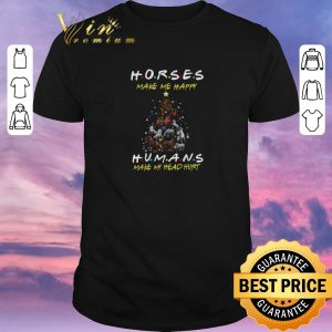Pretty Friends horses make me happy humans make my head hurt Christmas shirt sweater