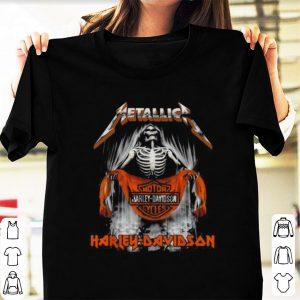 Pretty Harley-Davidson Cycles Metallica Skull Motor shirt
