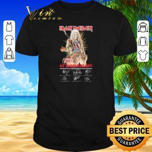 Pretty Iron Maiden 45th anniversary 1975-2020 signatures shirt sweater 2019