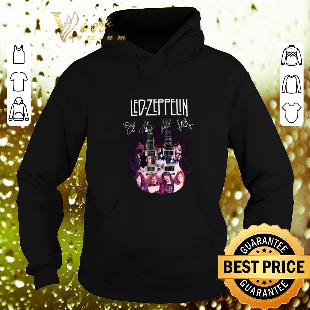 Pretty Led Zeppelin signatures two guitar shirt 4 - Pretty Led Zeppelin signatures two guitar shirt