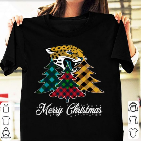 Pretty Merry Christmas Tree Football Team Jacksonville-Jaguar Fan shirt