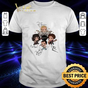 Pretty Queen band chibi Friends signatures shirt