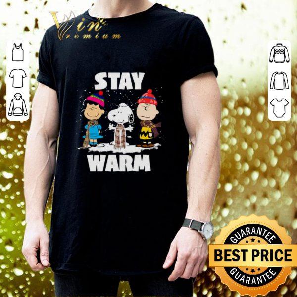 Pretty Stay Warm Peanuts characters Christmas shirt