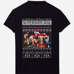 Pretty Supernatural Signatures Ugly Christmas shirt