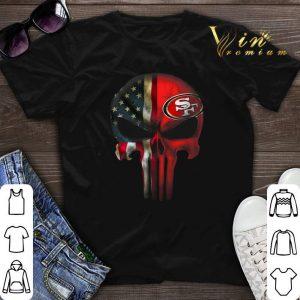 The Punisher Skull American flag San Francisco 49ers shirt sweater