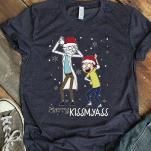 Top Christmas Santa Rick And Morty Merry Kissmyass shirt