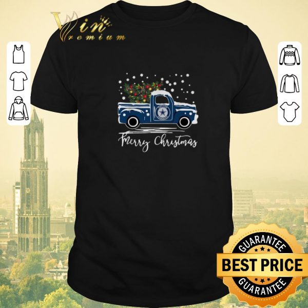 Top Dallas Cowboys truck Merry Christmas shirt sweater