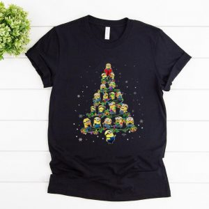 Top Despicable me Minions Christmas tree shirt