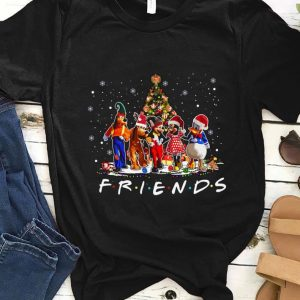 Top Friends Mickey Mouse characters christmas tree shirt