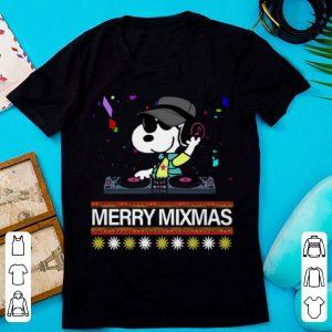 Top Merry Mixmas Ugly Christmas Dj Snoopy shirt