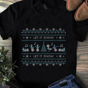 Top Ugly Christmas Sweater Let it Snow Dancing Snowmen shirt