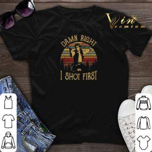 Vintage Han Solo damn right i shot first shirt