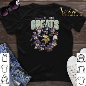 signatures Minnesota Vikings all-time greats shirt