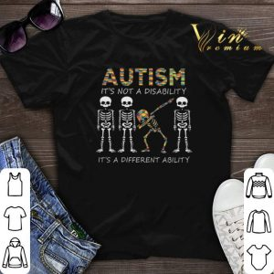Autism it's not a disability it's a different dabbing skeleton shirt sweater