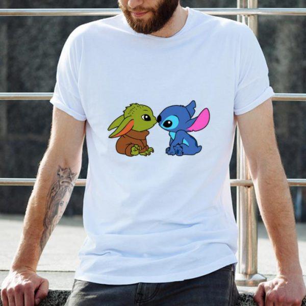 Awesome Baby Yoda And Baby Stitch shirt
