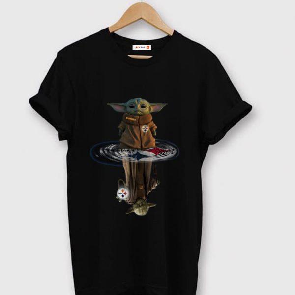 Awesome Baby Yoda And Master Yoda Pittsburgh Steelers Water Reflection shirt