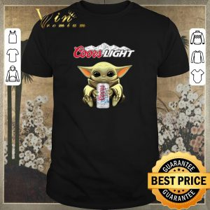 Awesome Baby Yoda hug Coors Light Star Wars Mandalorian shirt sweater