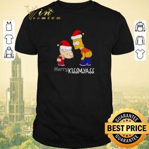 Awesome Christmas The Simpsons Merry Kissmyass shirt