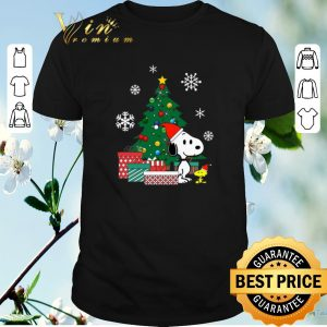 Awesome Christmas tree Snoopy and Woodstock shirt