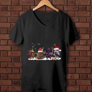 Awesome Death Star Darth Vader Stormtrooper Chibi And Baby Yoda Christmas shirt