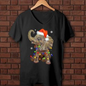 Awesome Elephant Santa Christmas Light shirt