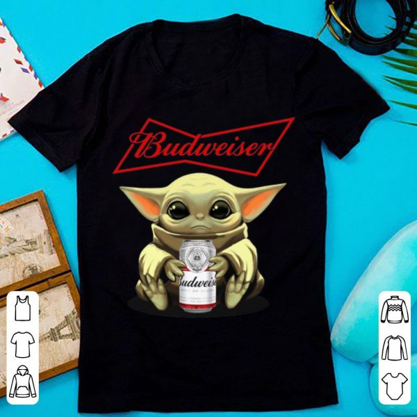 Awesome Star Wars Baby Yoda Hug Budweiser shirt