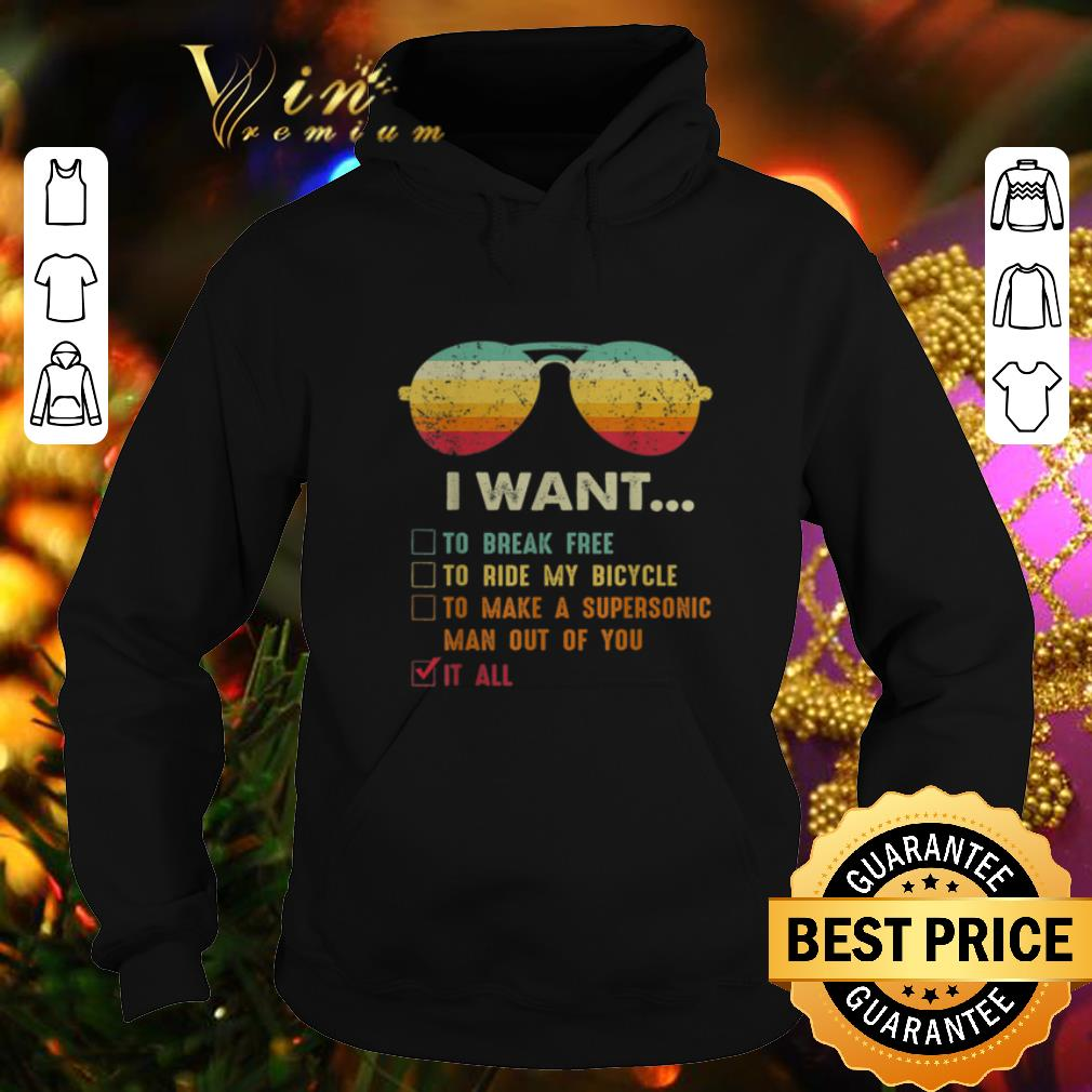 Awesome Sunglass i want to break free to ride my bicycle it all vintage shirt 4 - Awesome Sunglass i want to break free to ride my bicycle it all vintage shirt