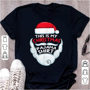 Awesome This is My Christmas Pajama Funny Santa Xmas Beard Hat sweater