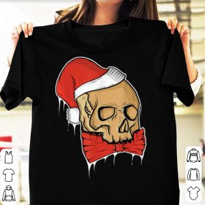 Awesome Vintage Skull Christmas Santa hat Funny sweater