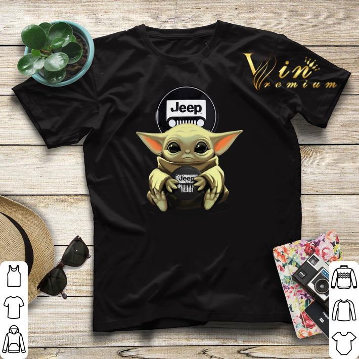 Baby Yoda hug Logo Jeep Circular shirt sweater 4 - Baby Yoda hug Logo Jeep Circular shirt sweater