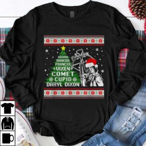 Beautiful Dasher dancer prancer vixen comet cupid Daryl Dixon Christmas shirt