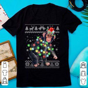 Chimpanzee Monkey Ugly Christmas Pajama Xmas Monkey Gifts sweater