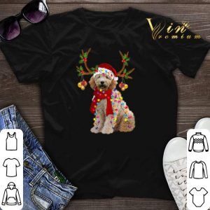 Christmas Goldendoodle gorgeous reindeer shirt